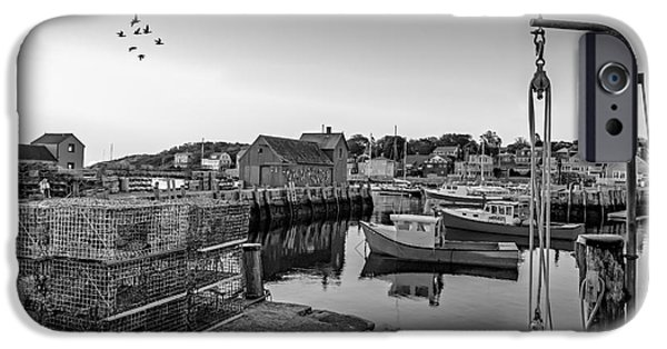 Fishing iPhone Cases - Motif Number One Sunrise BW iPhone Case by Susan Candelario