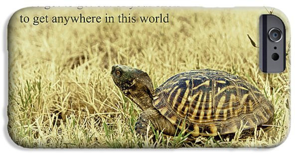 Empower iPhone Cases - Motivating A Turtle iPhone Case by Robert Frederick