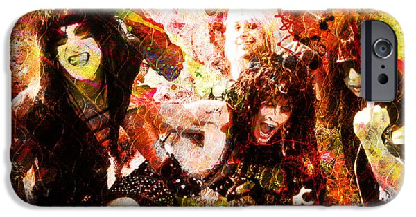 Vince iPhone Cases - Motley Crue Original Painting Print iPhone Case by Ryan RockChromatic