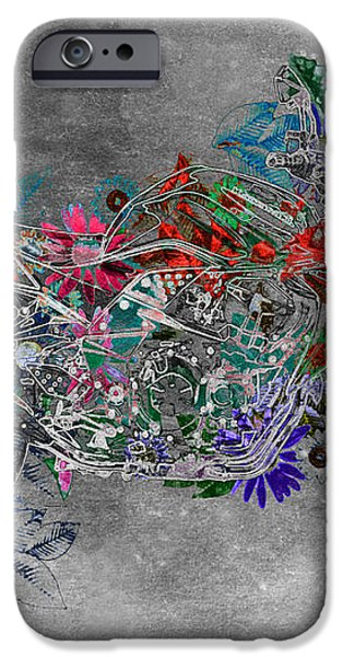 Moto Art  Floral sp01bb iPhone Case by Variance Collections