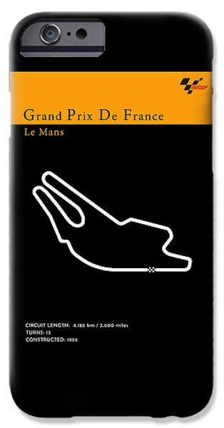 Circuit Photographs iPhone Cases - Moto GP France iPhone Case by Mark Rogan