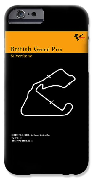 Suzuki iPhone Cases - Moto GP Great Britain iPhone Case by Mark Rogan