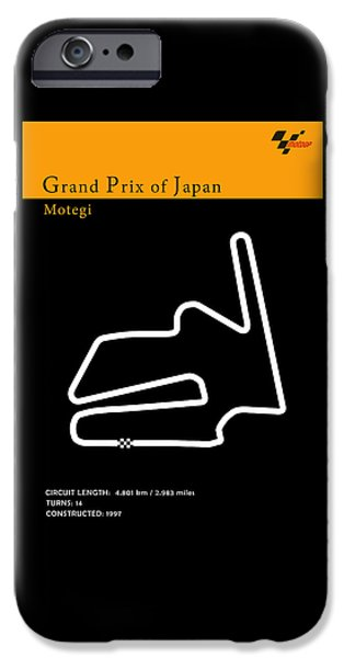 Suzuki iPhone Cases - Moto GP Japan iPhone Case by Mark Rogan