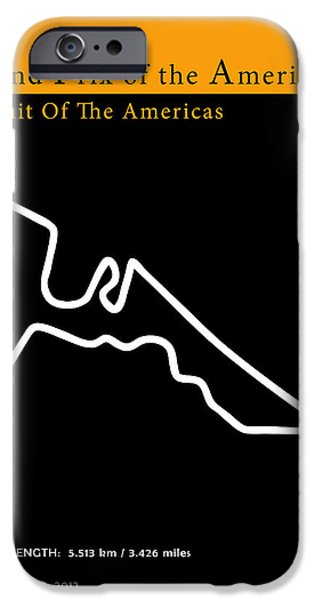Suzuki iPhone Cases - Moto GP of the Americas iPhone Case by Mark Rogan