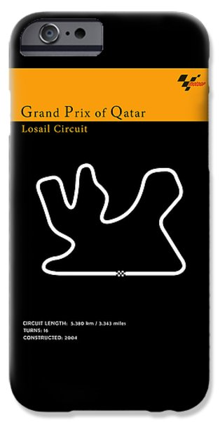Suzuki iPhone Cases - Moto GP Qatar iPhone Case by Mark Rogan