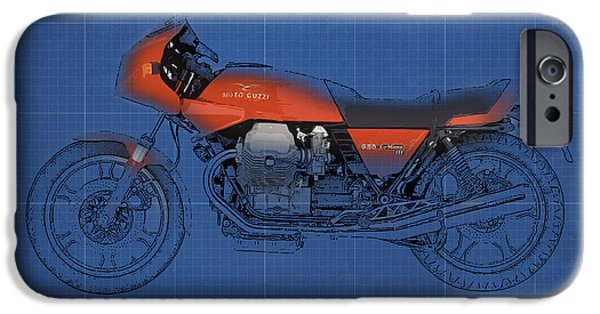 1981 iPhone Cases - Moto Guzzi Le Mans III 1981 vintage style iPhone Case by Pablo Franchi