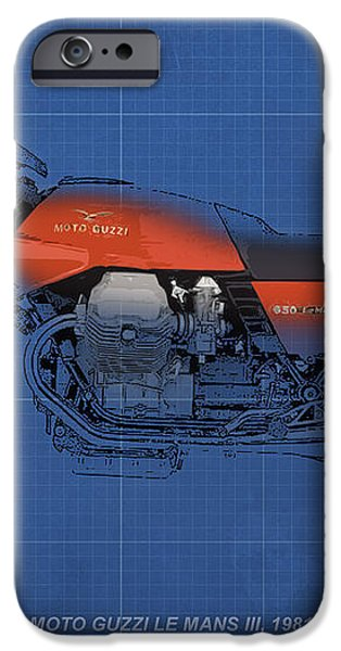 Moto Guzzi Le Mans III 1981 vintage style iPhone Case by Pablo Franchi