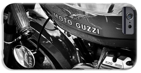 Racer iPhone Cases - Moto Guzzi Le Mans  iPhone Case by Tim Gainey