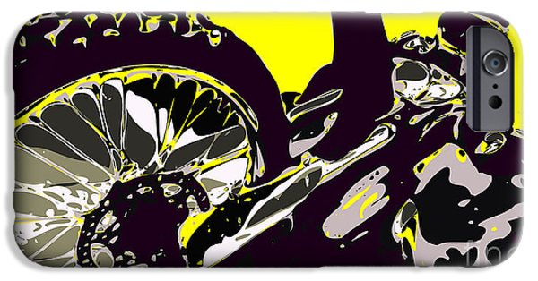 Wild Racers iPhone Cases - Motocross iPhone Case by Chris Butler