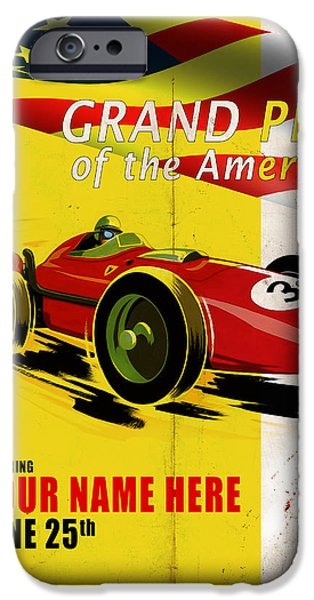 The Americas iPhone Cases - Customized Poster 7 iPhone Case by Mark Rogan