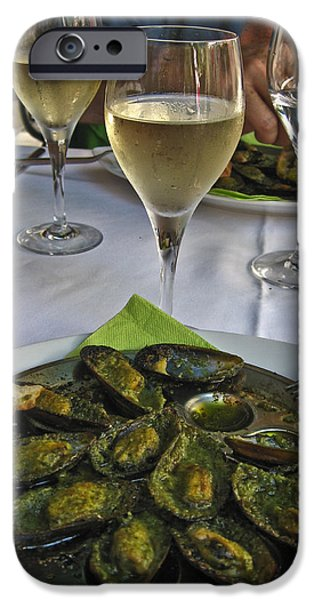 Moules and Chardonnay iPhone Case by Allen Sheffield