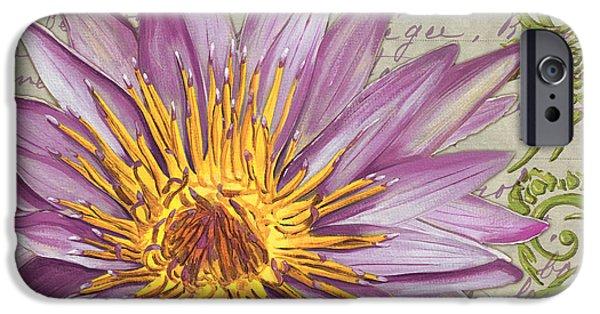 Plant iPhone Cases - Moulin Floral 1 iPhone Case by Debbie DeWitt