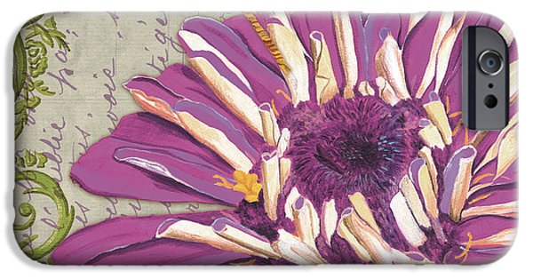 Ladybug iPhone Cases - Moulin Floral 2 iPhone Case by Debbie DeWitt