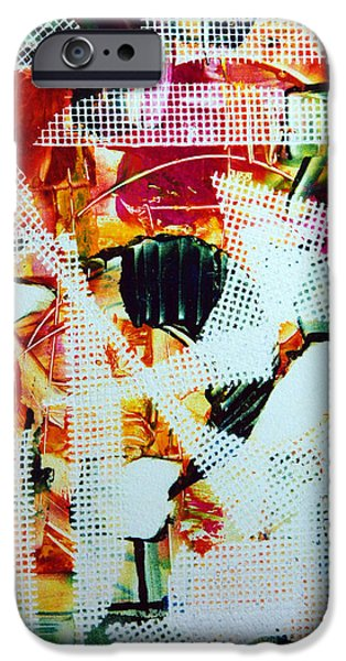 Printmaking iPhone Cases - Moulin Rouge iPhone Case by Alexandra Jordankova