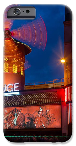Moulin Rouge en Soir iPhone Case by Inge Johnsson