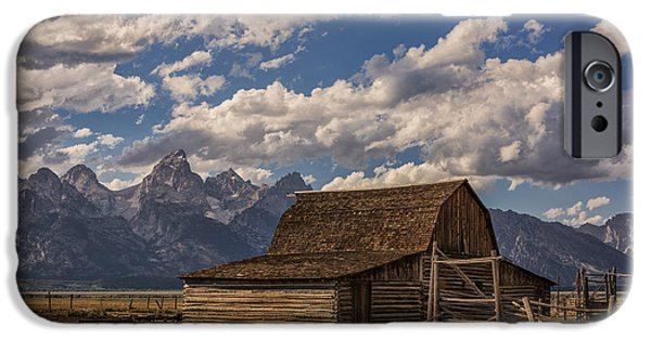 Barn Poster Photographs iPhone Cases - Moulton Barn - Grand Teton National Park Wyoming iPhone Case by Brian Harig