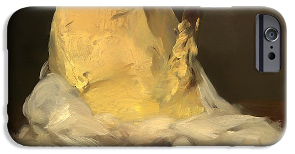 Mounds Paintings iPhone Cases - Mound of Butter iPhone Case by Antoine Vollon