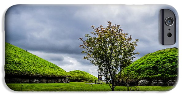 Mounds iPhone Cases - Mounds of Knowth iPhone Case by  rdm-Margaux Dreamations