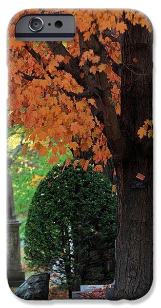 Burying Ground iPhone Cases - Mount Auburn Cemetery - Cambridge - Massachusetts iPhone Case by Juergen Roth