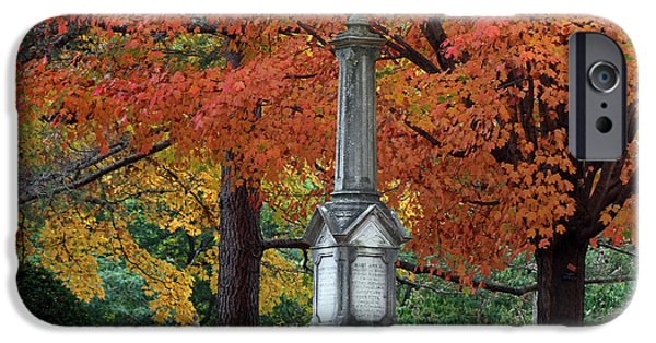 Burying Ground iPhone Cases - Mount Auburn Cemetery iPhone Case by Juergen Roth