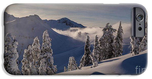 Skiing iPhone Cases - Mount Baker Snowscape iPhone Case by Mike Reid