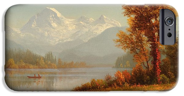 Steer Paintings iPhone Cases - Mount Baker Washington iPhone Case by Celestial Images