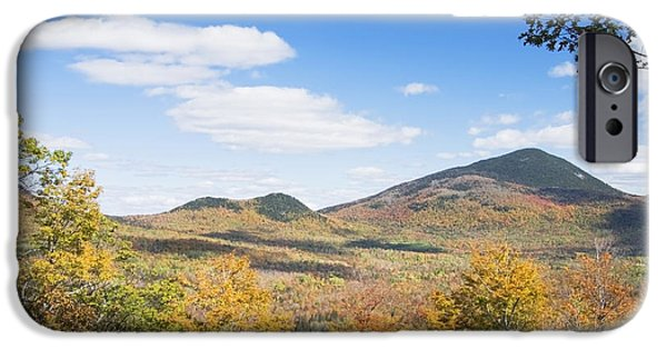 Maine Mountains iPhone Cases - Mount Blue State Park In Fall Weld Maine iPhone Case by Keith Webber Jr