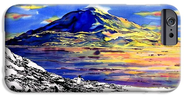 Clouds Tapestries - Textiles iPhone Cases - Mount Erebus Antarctica iPhone Case by Carolyn Doe