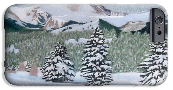 Winter Storm Drawings iPhone Cases - Mount Evans Winter iPhone Case by Dan Miller