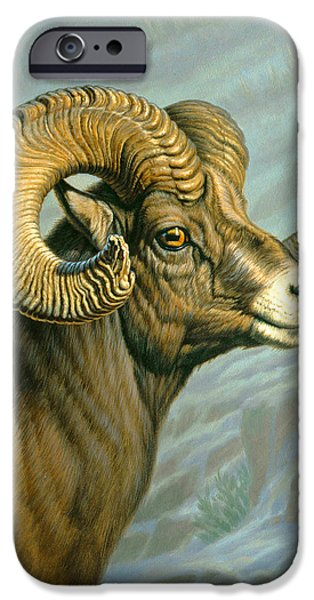 Yellowstone Park iPhone Cases - Mount Everts Ram iPhone Case by Paul Krapf