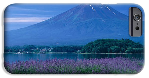 Japan House iPhone Cases - Mount Fuji Japan iPhone Case by Panoramic Images