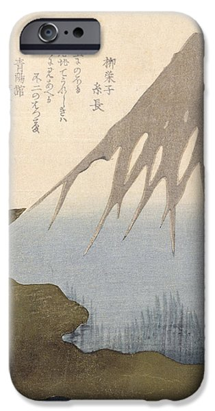 Mount Fuji Under the Snow iPhone Case by Toyota Hokkei