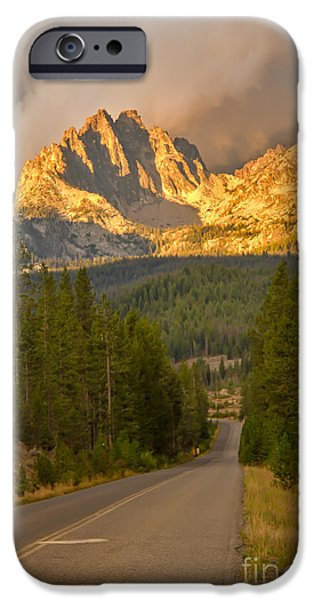 Haybale iPhone Cases - Mount Heyburn iPhone Case by Robert Bales