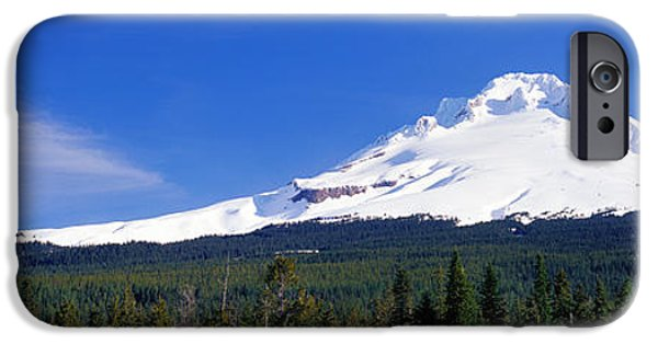 Mountain iPhone Cases - Mount Hood Or Usa iPhone Case by Panoramic Images