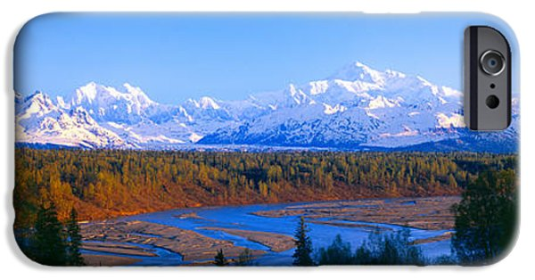 Mountain iPhone Cases - Mount Mckinley, Alaska iPhone Case by Panoramic Images