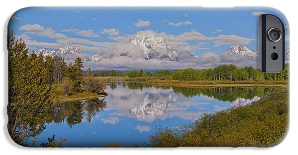 United iPhone Cases - Mount Moran On Oxbow Bend iPhone Case by Brian Harig