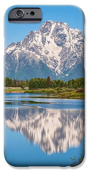 Mount Moran on Snake River Landscape iPhone Case by Brian Harig