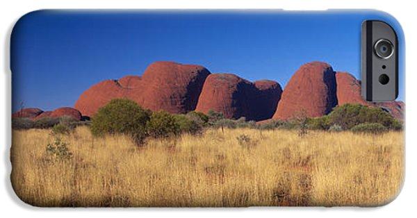 Red Rock iPhone Cases - Mount Olga, Uluru-kata Tjuta National iPhone Case by Panoramic Images