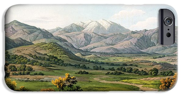 Landscapes Drawings iPhone Cases - Mount Olympus iPhone Case by Edward Dodwell