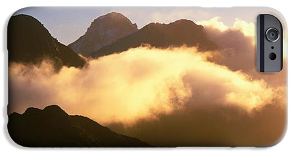 Illumination iPhone Cases - Mount Pembroke Fiordland National Park iPhone Case by Panoramic Images