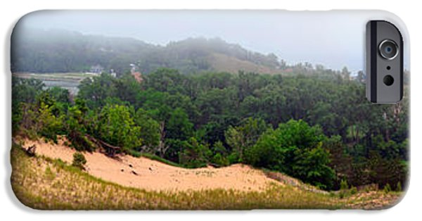 Michelle iPhone Cases - Mount Pisgah in the Fog iPhone Case by Michelle Calkins