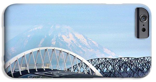 Safeco iPhone Cases - Mount Rainier Backdrop iPhone Case by Kristin Elmquist