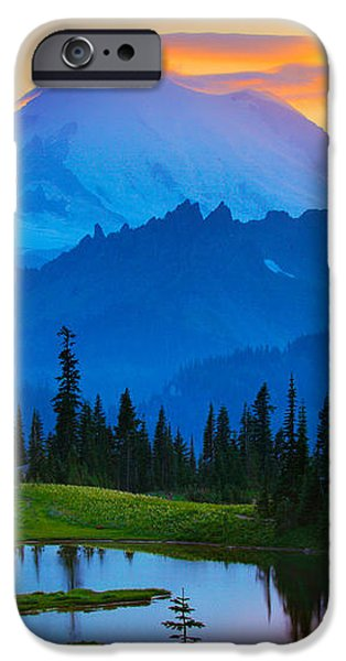 Mount Rainier Goodnight iPhone Case by Inge Johnsson