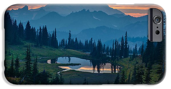 Sold iPhone Cases - Mount Rainier Layers iPhone Case by Mike Reid
