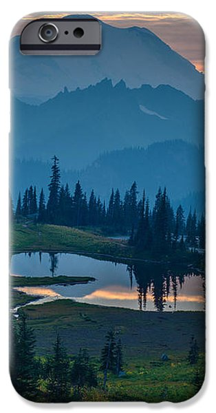 Mount Rainier Layers iPhone Case by Mike Reid