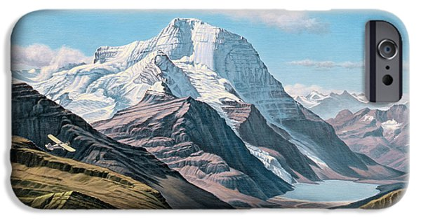 British Columbia iPhone Cases - Mount Robson From The Air    iPhone Case by Paul Krapf