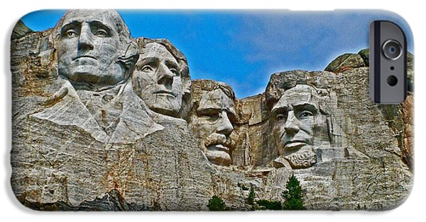 Lincoln iPhone Cases - Mount Rushmore National Memorial in the Black Hills-South Dakota iPhone Case by Ruth Hager