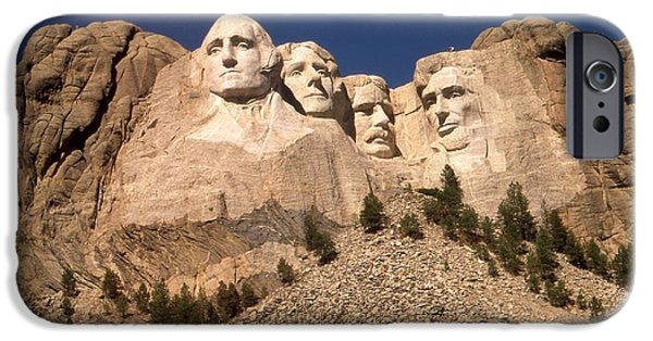 Abraham Lincoln Canvas iPhone Cases - Mount Rushmore National Monument South Dakota - Color iPhone Case by Peter Fine Art Gallery  - Paintings Photos Digital Art