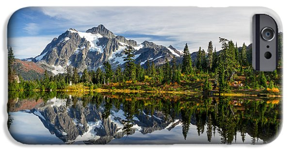 United States iPhone Cases - Mount Shuksan Reflections iPhone Case by Michael Russell