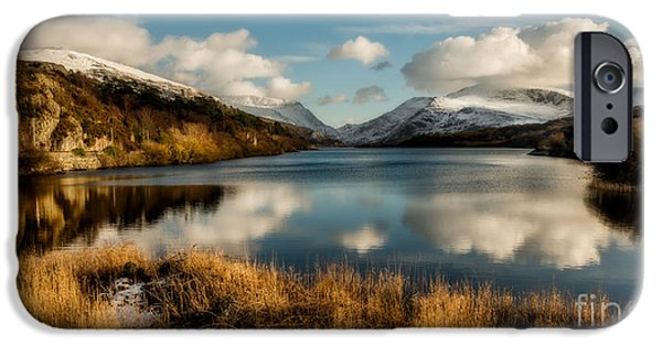 Snow iPhone Cases - Mount Snowdon iPhone Case by Adrian Evans